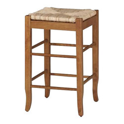 "Boraam - Boraam Square Rush 24"" Stationary Counter Stool in Oak - Boraam - Bar Stools - 94124 - Boraam's high quality products are well styled and priced right. Benefitting from years of experience in the industry. Boraam knows what you look for in quality furniture and takes pride in getting orders out as diligently as possible. Feel confident that Boraam will take your living space to another level."