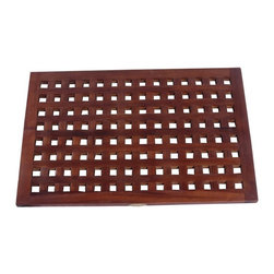 Decoteak - Decoteak 23 x 15 in. Grate Teak Spa Shower and Floor Mat Multicolor - DT137 - Shop for Mats and Rugs from Hayneedle.com! About DecoteakTeak is unique among woods in that it's naturally water- mold- and mildew-resistant on account of its high density and high oil content. DecoTeak is dedicated to bringing this high-end wood into your home in ways where it will be both beautiful and functional. Their lines of shower benches stools and other bathroom accessories is designed to add maximum comfort and convenience to your personal space.