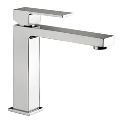 WS Bath Collections - Elle EL 074 Bathroom Faucet - Elle by WS Bath Collections, Single Lever Bathroom Faucet, in Polished Chrome