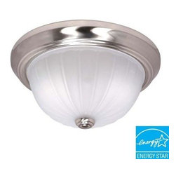 Glomar - Glomar 2-Light Flush-Mount Brushed Nickel Dome Light Fixture HD-446 - Shop for Lighting & Fans at The Home Depot. This Glomar Green Matters 2-Light Flush-Mount Brushed Nickel Dome Light Fixture features a frosted melon glass shade and an elegant brushed nickel finish to complement your decor. This may take up to 5 days in delivery. Easy installation instructions and template enclosed for convenient setup.