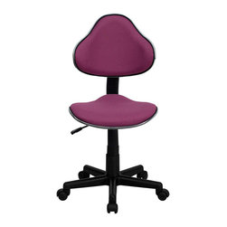 Flash Furniture - Flash Furniture Modern Ergonomic Task Chair in Lavender - Flash Furniture - Office Chairs - BT699LAVENDERGG - This attractive task chair features a contoured shaped seat and back with chrome metal band accent. Whether for the kids or for your home office this chair will be a perfect addition. This chair will be a welcome and personal addition for any home office or home study area. [BT-699-LAVENDER-GG]