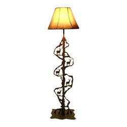 Wildlife Decor Llc Scenery Style Floor Lamp Rust Deer