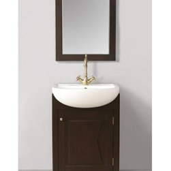 "Stufurhome - Stufurhome 23"" Magnolia Single Sink Vanity with Mirror - Dark Brown - Stufurhome has the perfect bathroom vanity for your remodel at a perfect price. Stufurhome's vanities are pieces of finely made furniture detailed with rich color, charming woodwork, and ample storage space. Stylish, tasteful and practical, Stufurhome.The Magnolia single sink vanity has a unique appearance with its box like cabinet in dark brown finish. It is trendy and designed in keeping with the styles of modern homes and bathrooms.FeaturesA sleek and stylish modern vanity with a single door cabinet and porcelain sinkContemporary vanity single sinkMirror included1 pre drilled faucet holeBox cabinet with blackish brown finishDeep and round sink made of porcelainHuge cutout back for plumbing installationSleek hand carved legs for good support *Faucet sold separately23""W x 22""D x 36""HStufurhome 1 Year Limited-WarrantyHow to handle your counterView Spec Sheet"
