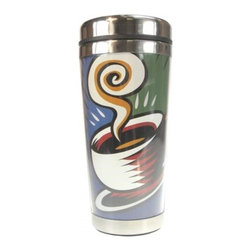 Westland - 7 Inch Coffee Theme Acrylic and Stainless Steel Travel Mug, 16 Oz. - This gorgeous 7 Inch Coffee Theme Acrylic and Stainless Steel Travel Mug, 16 oz. has the finest details and highest quality you will find anywhere! 7 Inch Coffee Theme Acrylic and Stainless Steel Travel Mug, 16 oz. is truly remarkable.