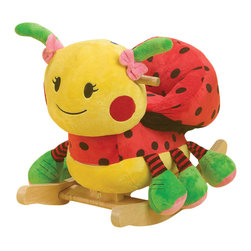 Rockabye - Rockabye LuLu Ladybug Rocker - LuLu, our lovable ladybug, makes a fun, colorful addition to a childóÇÖs nursery. Press the buttons on the back of her head and watch baby giggle as she rocks to original songs that teach. Baby will find 4 shaped buttons that activate original songs that teach ABCóÇÖs, 1-10, colors, shapes and more.éáComplete with a soft and cushioned seat, nanaments & Accents/Lawn OrnamentsIPatio & Garden/Outdoor Decor/Lawn Ornaments & Accents/Wind Chimes & BellsJPatio & Garden/Outdoor Decor/Lawn Or