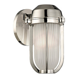 HUDSON VALLEY LIGHTING - Hudson Valley Lighting Pompey-Wall Sconce Polished Nickel - Free Shipping