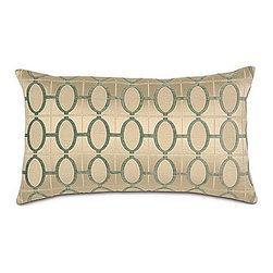 """Frontgate - Brenn Pillow Shams - Euro - From Eastern Accents. Dry clean only recommended. Brenn Shams (77305):Standard: 20"""" x 27"""".King: 21"""" x 37"""".Euro: 26"""" x 26"""".Boudoir: 12"""" x 18"""".Grand Queen: 20"""" x 60"""".Grand King: 20"""" x 76"""".. Because this bedding is specially made to order, please allow 4-6 weeks for delivery.. Featuring a 100% silk quilted coverlet and a luxurious grand bed pillow, the Brenn Bedding Collection is refreshing in ivory and pearl tones paired with cool pistachio accents.  .  . Brenn Shams (77305): Standard: 20"""" x 27"""". King: 21"""" x 37"""". Euro: 26"""" x 26"""". Boudoir: 12"""" x 18"""". Grand Queen: 20"""" x 60"""". Grand King: 20"""" x 76"""".. . Made in Italy. Part of the Brenn Bedding Collection."""