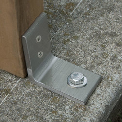 Stainless Steel Anti-Theft Bench Bracket - Brushed Stainless Steel - Set of 2 - Keep your outdoor furniture firmly in place with the Stainless Steel Anti-Theft Bench Bracket, made from solid, 304-grade stainless steel.