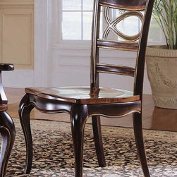Hooker Furniture - Preston Ridge Oval Back Side Chair - Set of 2 - Set of 2. Traditional style. Wooden seat. Four tack in floor glides. Made from hardwood solids with cherry, mahogany and white ash burl veneers. Distinctive black rub-through finish with rich contrasting cherry finish. Seat depth: 19.75 in.. Seat height: 17.75 in.. Overall: 22.75 in. W x 24 in. D x 40 in. H