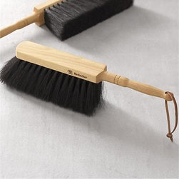 Redecker® Natural Dustpan Brush - Handcrafted in Germany by the Redecker family of artisan brushmakers, this thoughtfully designed brush's utilitarian horsehair bristles are ergonomically angled for a clean sweep. The sculptural beechwood handle is a pleasure to hold, honed to ergonomically fit the hand.