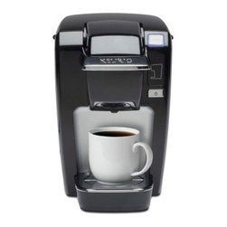 Keurig K10 Mini Plus Personal Coffee Maker - Black - Sometimes you enjoy your days one cup of coffee at a time, or you tough it out one cup at a time, but you'll always have that cup when it comes from the Keurig K10 Mini Plus Personal Coffee Maker – Black. Designed to produce single cups of rich java, tea, cocoa, or iced coffee, exactly when you need them, this compact coffee maker brews in just under a minute in your choice of three cup sizes. The power-saving design shuts off after 30 seconds, and the single-use reservoir and drip tray are easy to clean. Includes 6 K-cups.About KeurigCustomers have come to expect nothing less than excellence when it comes to Keurig. In 1998, Keurig introduced their patented single-cup brewing system that simplifies and enhances the process for brewing one cup of coffee, which takes less than a minute and is as easy as could be. Now, Keurig is the leading single-cup brewing system in North America. With the expectation that coffee should always be served fresh, Keurig's mission is to provide state-of-the-art brewer technology and unique packs to consistently deliver the perfect cup of coffee.