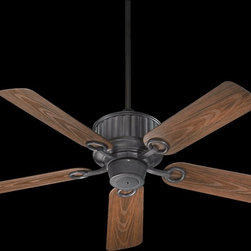 "Quorum Lighting - Quorum Lighting Portside Patio 52"" Transitional Ceiling Fan X-44-525441 - From the Portside Collection, this Quorum Lighting ceiling fan is delightful and elegant thanks to its subtle traditional detailing. The five walnut fan blades are paired with your choice of two finishes, both of which compliment the warm wood tones and the clean traditional styling of the body."