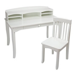 KidKraft - Avalon Desk With Hutch, White by Kidkraft - KidKraft's white Avalon Desk with Hutch would look perfect in any child's bedroom. This desk gives kids a great place for working on homework and a perfect spot for storing pictures, trophies and collectibles.
