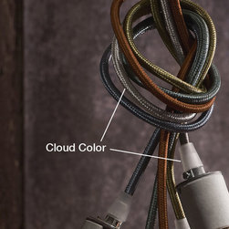 Roost - Roost Cloth Cord - Cloud Color Only - The European 60 watt bulbs are appropriate for US fixtures and burn at a gentle 15 watts due to the lower US voltage.