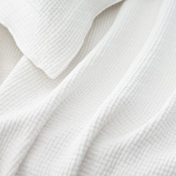 Pine Cone Hill - interlaken matelasse coverlet (white) - Goes-with-anything woven, textured cotton matelasse coverlet in a range of rich, saturated hues.��This item comes in��white.��This item size is��various sizes.