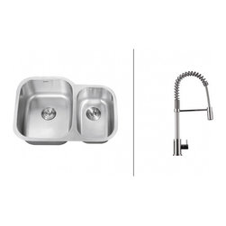 Ruvati - Ruvati RVC2541 Stainless Steel Kitchen Sink and Chrome Faucet Set - Ruvati sink and faucet combos are designed with you in mind. We have packaged one of our premium 16 gauge stainless steel sinks with one of our luxury faucets to give you the perfect combination of form and function.