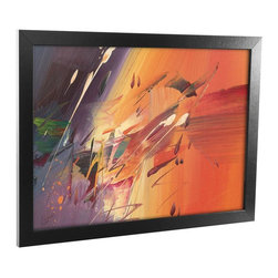 Trademark Global - Speed Framed Canvas Art - Contemporary style. Reflective crystal plexiglass. Sawtooth hanger. 1.25 in. black satin wood grain frame. Black color. No assembly required. Rabbit size: 0.25 in.. Image size: 22 in. W x 16 in. H. Overall: 24 in. W x 18 in. H (5 lbs.)Accent the walls in your kitchen, living room, or bar with a beautiful piece of Framed Canvas Art.