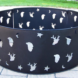 Oakland Living - 30 in. Fire Ring in Black - Fire Pits - Made of Durable Copper and Cast Iron Construction. Fire pit BBQs use charcoal for grilling. Easy to follow assembly instructions and product care information. Stainless steel or brass assembly hardware. Fade, chip and crack resistant. 1 year limited. Hardened powder coat finish in Black for years of beauty. Black finish. Some assembly required. 36 in. W x 14 in. L x 36 in. H (35 lbs.)This fire pit BBQ will be a beautiful addition to your patio, back yard or outdoor entertainment area. Adds beauty, style and functionality. Our fire pit BBQs are perfect for any small space, or to accent a larger space.