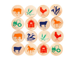 Tree Hopper Toys - Match Stacks Memory Game, On the Farm - A Tree Hopper twist on a classic educational game! MATCH STACKS is a durable, portable, and super cute memory and matching game.