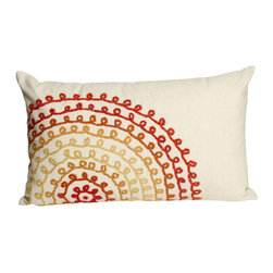 "Trans-Ocean - Ombre Threads Cream Pillow 4105/24 - 12""X20"" - The highly detailed painterly effect is achieved by Liora Mannes patented Lamontage process which combines hand crafted art with cutting edge technology.These pillows are made with 100% polyester microfiber for an extra soft hand, and a 100% Polyester Insert.Liora Manne's pillows are suitable for Indoors or Outdoors, are antimicrobial, have a removable cover with a zipper closure for easy-care, and are handwashable."