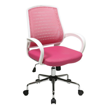 Office Star - Office Star Rio Office Chair in Pink - Office Star - Office Chairs - EM6120WT261 - Enjoy the office star office chair and get to work in style with this sleek and comfortable office chair. The simplicity and the comfort of the chair can make any office setting look more complete. Streamlined and comfortable, and stylish enough for any home office.