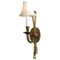 traditional wall sconces Gold Tassel Wall Sconce