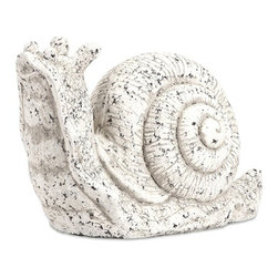 IMAX CORPORATION - Singleton Garden Snail - This delightfully dawdling friend is perfect for adding character inside or out! With the look of aged, white washed cast concrete, this mollusk works great as a door stop, a garden decoration, or a decorative room accent in an enclosed patio. Find home furnishings, decor, and accessories from Posh Urban Furnishings. Beautiful, stylish furniture and decor that will brighten your home instantly. Shop modern, traditional, vintage, and world designs.