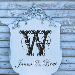 Monogram Signs By Family Attic Shoppe - This would be adorable on any porch.