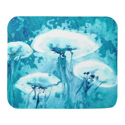 Brazen Design Studio - Mousepad - Luminous Jellyfish Painting - Art for Home or Office - Spice up your desk or work areas with this beautiful and colorful piece of art on a mouse pad! These mouse pads are top-quality and measure approximately 9.25��_ by 7.75��_ and 1/4��_ thick with a rubber base. They are heavy duty and meant to last.