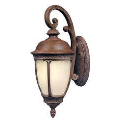 Maxim - Maxim Knob Hill EE One Light Sienna Snow Flake Glass Wall Lantern - This One Light Wall Lantern is part of the Knob Hill Ee Collection and has a Sienna Finish and Snow Flake Glass. It is Wet Rated and Outdoor Capable.