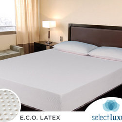 Select Luxury - Select Luxury E.C.O. Latex 8-inch Full-size Mattress - Say goodbye to muscle and body aches with this eight-inch full-size mattress from E.C.O. Crafted from high-density latex, the mattress conforms to your body, provides exceptional support, and reduces irritation due to allergens and irritants.