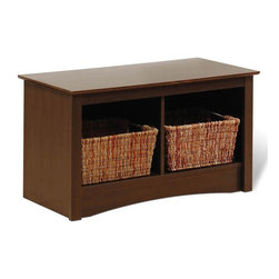 Prepac - Entryway Storage Bench w 2 Cubbies in Espress - Two compartments. Warranty: Five years. Made from CARB-compliant, MDF, laminated composite wood. Made in North America . Assembly required. Internal: 15.25 in. W x 14 in. D x 12.5 in. H. Overall: 36.25 in. W x 15.75 in. D x 20 in. HOur Twin Cubbie Bench is a versatile storage solution for your small spaces. Underneath the bench, this piece will keep blankets, pillows, baskets and more neatly stowed away. Its compact size makes it the perfect space-saver for hallways or small bedrooms and its simple style will complement any decor. This bench offers functionality for any space.