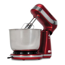 StoreBound - Everyday Mixer, Red - Whip up healthy treats and so much more with the Dash Go Everyday Mixer. Convenient and compact, the Dash Go Everyday Mixer is designed with a smaller footprint and fits underneath most kitchen cabinets.