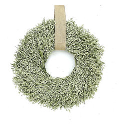 Frontgate - Avena Wreath with Burlap Hanger - Grown, dried, and preserved using only natural preservatives. Imaginatively designed and hand-assembled. 100% Avena hung from a burlap ribbon. Made on a metal clamp circular wreath frame. Will maintain its fresh-picked appearance year after year. Another name for oats, avena has been an important part of the american landscape since 1602. Our Avena Wreath was grown exclusively in the Pacific Northwest.  .  .  .  .  . Only display in a covered area away from outdoor elements to prevent fading. Made in USA.
