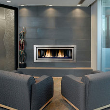Modern Home Theater by Solus Decor Inc.