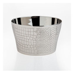 Godinger Silver - Croco Design Ice & Wine Bucket - Enjoy an intimate cocktail party or an evening for two with ice cold drinks chilled from our high quality croco designed wine holder. With our sophisticated ice and wine bucket you can now serve champagne and wine ice cold in elegance! Present it to a wine lover, or make this classic beverage tub an essential tool at your home bar.