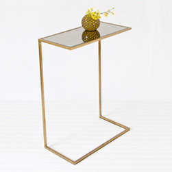 Worlds Away : Cigar Table - For the side table that ends up by the couch, it's always important to be reachable. This modern table sidles right up to the seat if necessary.