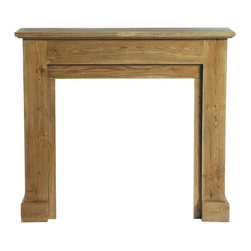 Atelier Mantelpiece - You don't need a fireplace to have a mantle. This simple wood one would be great for holding candles, pictures or any other possessions you'd like to give pride of place.