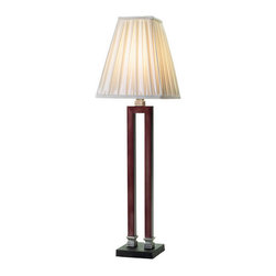 Eurofase Lighting - Eurofase Lighting 14601 Single Light Up Lighting Buffet Lamp Shura Coll - Single Light Buffet Lamp from the Shura CollectionThe emboldened architecture is made stunning by virtue of sheer simplicity. A folded bar provides a double edged stand, dusted in soft bronzes. The light is grounded in silver, and seated atop a beautiful granite base.