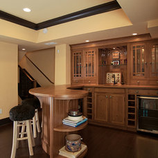 Traditional Home Bar by Eco Custom Homes