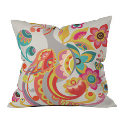 DENY Designs - Valentina Ramos Unwavering Avis Outdoor Throw Pillow, 26x26x7 - Do you hear that noise? It's your outdoor area begging for a facelift and what better way to turn up the chic than with our outdoor throw pillow collection? Made from water and mildew proof woven polyester, our indoor/outdoor throw pillow is the perfect way to add some vibrance and character to your boring outdoor furniture while giving the rain a run for its money. Custom printed in the USA for every order.