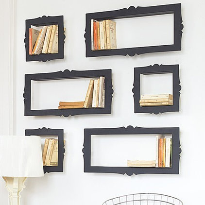 eclectic wall shelves by Graham and Green