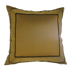 KH Window Fashions, Inc. - Dupioni Silk Pillow with Designer Braid - There's nothing quite as luxurious as silk. Simply adorned with a trim of braid, this plush, delightful pillow is a sensual pleasure in your favorite setting.
