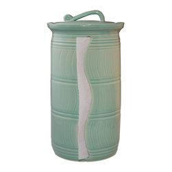 Paper Towel Holder - Glaze Color - Sea Breeze