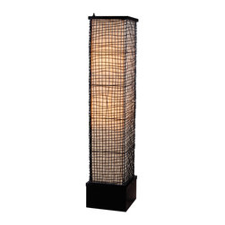 Kenroy - Kenroy 32250BRZ Trellis Outdoor Floor Lamp - Surrounded by an artfully woven outer mesh of wire is a glowing, luminous monolith.  Trellis celebrates texture and form and is weather safe and durable.