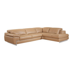 J&M Furniture - Oregon II Mouton Italian Leather Right Hand Facing Sectional Sofa - Nicoletti Italia is the premier leather sofa manufacturer in the business offering unmatched craftsmanship and leather quality. Top grain genuine Italian leather Oregon II Mouton Italian Leather Right Hand Facing Sectional Sofa features built in lumbar support cushions for unmatched comfort and adjustable head rest with ratchet mechanism. One seat features adjustable depth-as shown. Fixed seats and lumbar support cushions backs have high density foam to give you extra comfort and support. Features:
