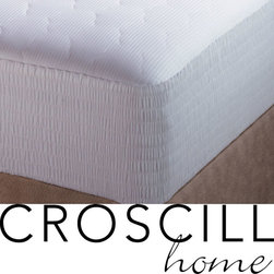 Croscill - Croscill Pima Cotton 310 Thread Count Mattress Pad - Sleep in extra comfort with a new Croscill 310 thread count pima cotton mattress pad. Bedding features stain release for added protection Mattress pad has a 20-inch Expand-a-Grip skirt will fit even the thickest mattress.