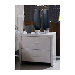William's Imports - 19 in. Tall Nightstand in White - High gloss lacquer finish. Ball bearing glide. 20.5 in. W x 15.5 in. D x 19 in. H