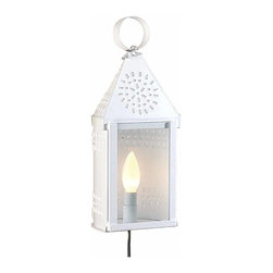 """Renovators Supply - Outdoor Lighting White Tin Outdoor Wall Light 
