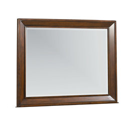 Standard Furniture - Standard Furniture Vineyard Rectangular Mirror in Tobacco - Like the carefully chosen frame surrounding a beautiful work of art, Vineyard Bedroom features wide beveled frames that accentuate all pieces.